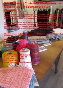 Handgewebtes anziehend 25. + 26.09.2015